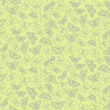 Lime Green Bugs Wallcovering by York