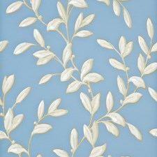 Blue/Ivory Wallcovering by Baker Lifestyle Wallpaper