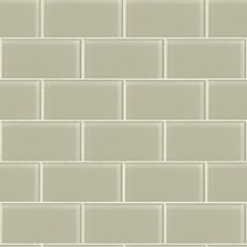 Pale Taupe Pearl/Cream Tile Wallcovering by York