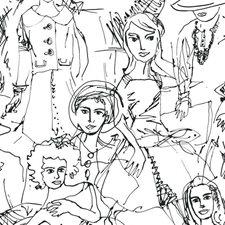 RMK11951WP Vogue Sketches by York