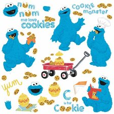 RMK2626SCS Me Love Cookie Monster Wall Decal by York