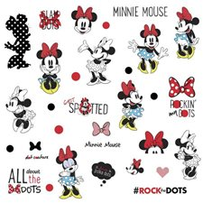 RMK3257SCS Minnie Rocks The Dot Decals by York