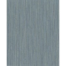 Blue/Silver Stripes Wallcovering by York