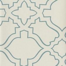 Cream/Turquoise Geometrics Wallcovering by York