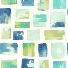Blue/Green/White Modern Wallcovering by York