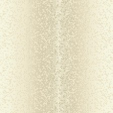 Beige/Iridescent Gold Geometrics Wallcovering by York