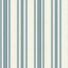 Off White/Wedgwood Blue/Navy Stripes Wallcovering by York