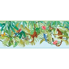 Blue/Bright Multicolor Children Wallcovering by York