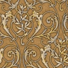 Yellow Scroll Wallcovering by Brewster