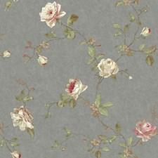 Pewter/Pink/Cream Botanical Wallcovering by York