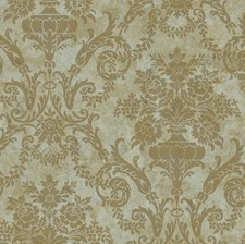 Green Damask Wallcovering by Brewster