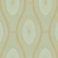 Aquamarine/Metallic Gold Dots Wallcovering by York