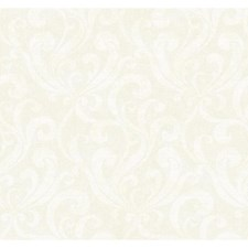 Golden Metallic/Cream Scroll Wallcovering by York