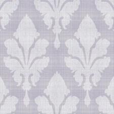 Light Grey/Medium Purple/White Damask Wallcovering by York