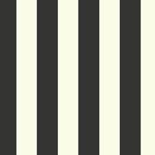 White/Black Stripes Wallcovering by York