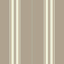 Taupe/Cream/Beige Stripes Wallcovering by York