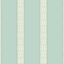 Aqua/White/Silver Stripes Wallcovering by York