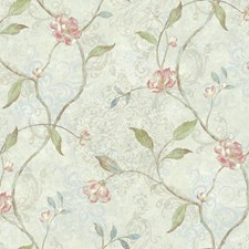 Cream/Pale Blue/Pale Taupe Botanical Wallcovering by York