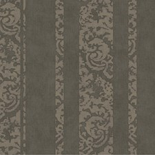 Silvery Charcoal Gray/Sage Damask Wallcovering by York