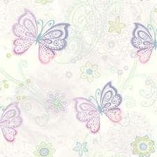 Purple Kids Wallpaper Wallcovering by Brewster