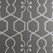 Smoke Geometric Wallcovering by Clarke & Clarke