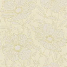 Gold/White Botanical Wallcovering by Kravet Wallpaper