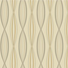 Yellow/Silver/Charcoal Modern Wallcovering by Kravet Wallpaper