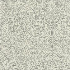 Ivory/Silver/Metallic Damask Wallcovering by Kravet Wallpaper
