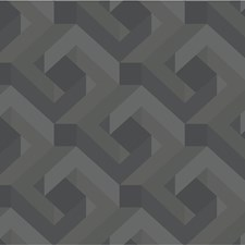 Grey/Silver/Black Modern Wallcovering by Kravet Wallpaper