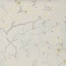 Yellow/Spa/Beige Botanical Wallcovering by Kravet Wallpaper