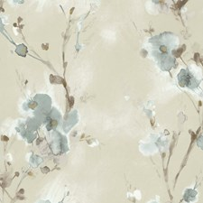 Beige/Slate/Taupe Botanical Wallcovering by Kravet Wallpaper