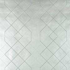 Silver/Metallic Geometric Wallcovering by Kravet Wallpaper