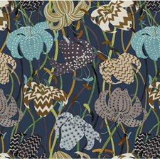 Blue/Brown/Multi Botanical Wallcovering by Kravet Wallpaper