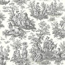 White/Black Toile Wallcovering by York