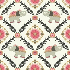 White/Pink/Black Animals Wallcovering by York