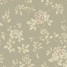 Silvery Gold/Beige/Pink Asian Wallcovering by York