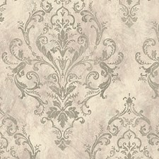 Silver Purple Wallcovering by Scalamandre Wallpaper