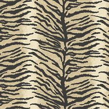 Silver/Black Wallcovering by Scalamandre Wallpaper