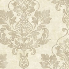 White Beige Wallcovering by Scalamandre Wallpaper