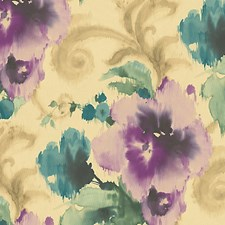 Purple/Gold Wallcovering by Scalamandre Wallpaper