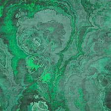 Malachite Wallcovering by Scalamandre Wallpaper