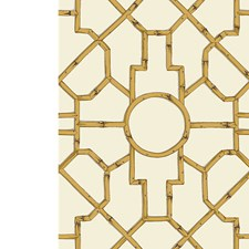 Rattan/Brown On Off White Hand Printed Wallcovering by Scalamandre Wallpaper