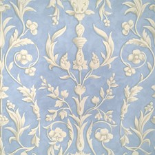 Plaster White On Nordic Blue F Wallcovering by Scalamandre Wallpaper