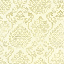 Burnished Gold On Cream Wallcovering by Scalamandre Wallpaper