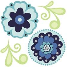 WPD99952 Morning Glory Minipops Wall Art Kit by Brewster
