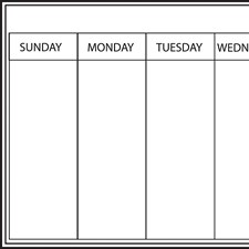 WPE98895 Whiteboard Weekly Calendar Decal by Brewster
