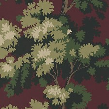 Dark Red/Green Wallcovering by Scalamandre Wallpaper