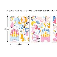 WT45064 Unicorn Kingdom Wall Art Kit by Brewster