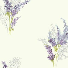 White/Purple/Blues Floral Wallcovering by York