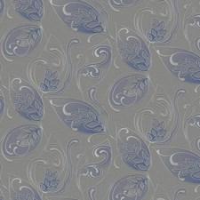 Grey/Light Grey/Blue Jacobean Wallcovering by York